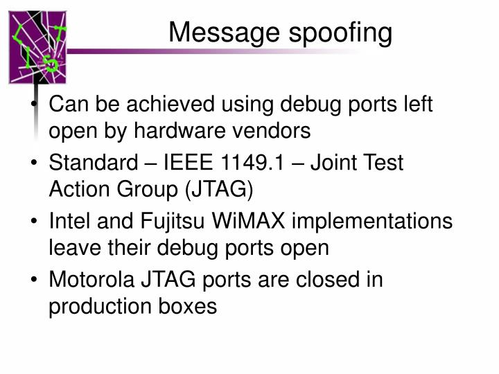 Message spoofing