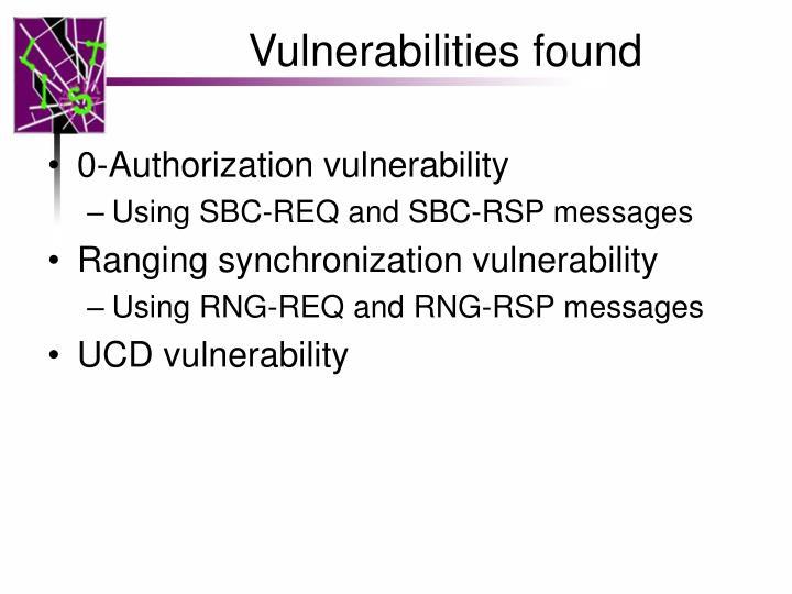 Vulnerabilities found