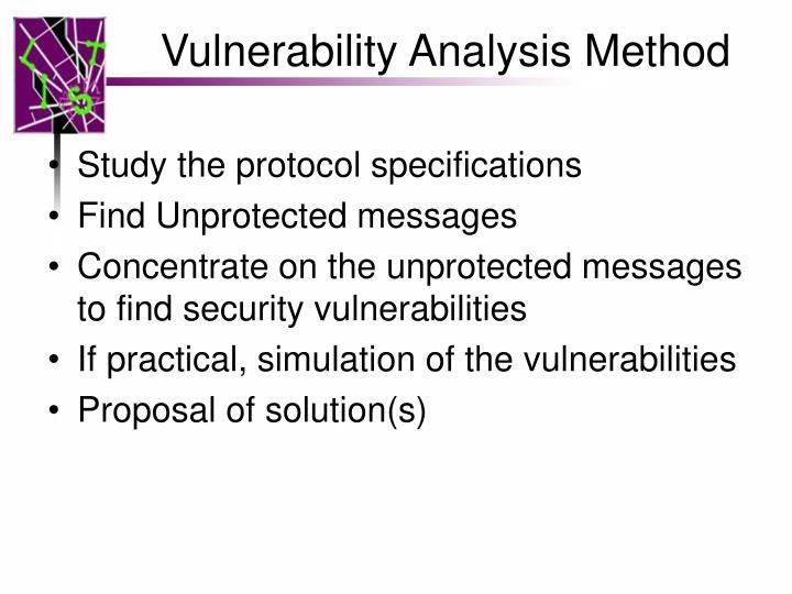 Vulnerability Analysis Method