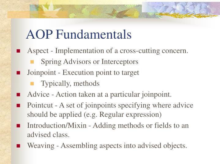 AOP Fundamentals