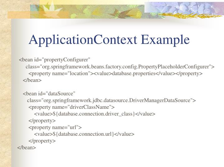 ApplicationContext Example