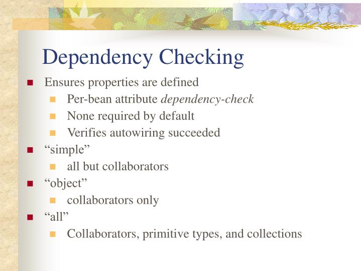 Dependency Checking