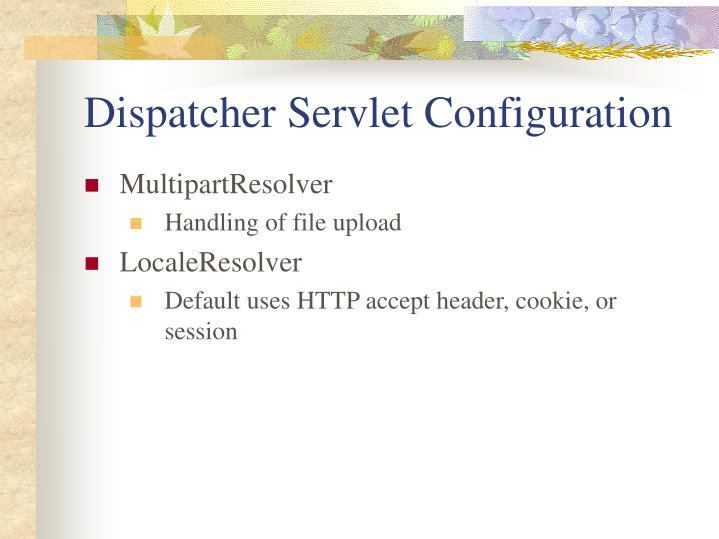 Dispatcher Servlet Configuration