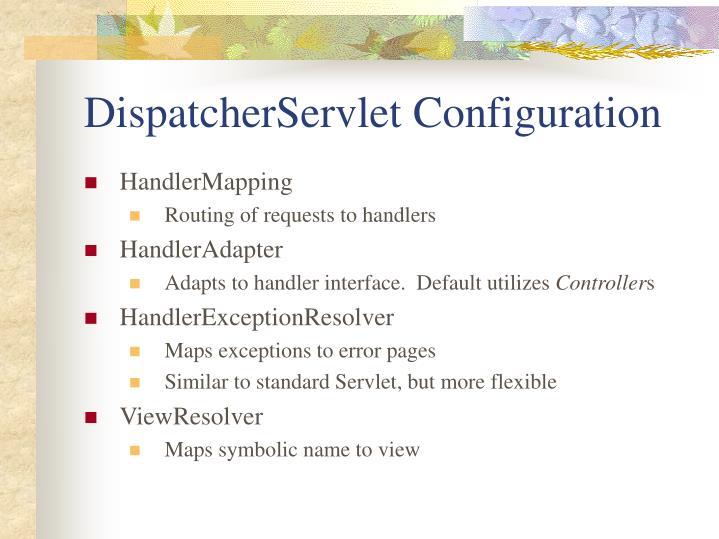 DispatcherServlet Configuration