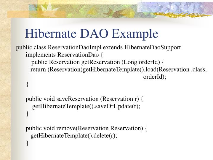 Hibernate DAO Example
