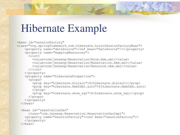 Hibernate Example