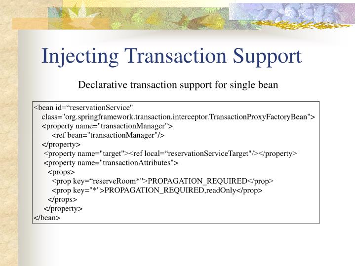 Injecting Transaction Support