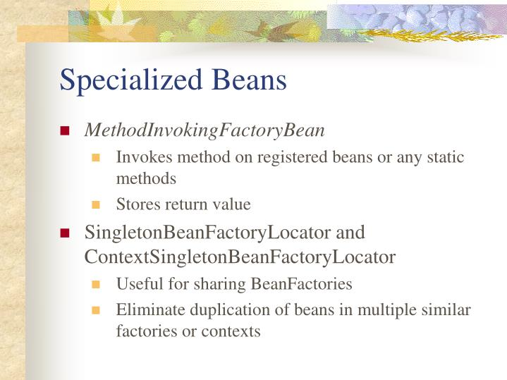 Specialized Beans