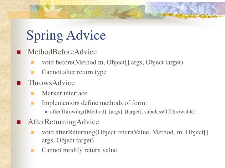 Spring Advice