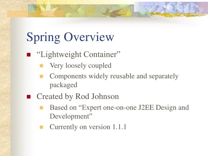 Spring Overview