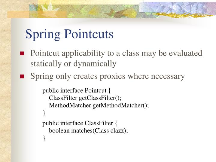 Spring Pointcuts