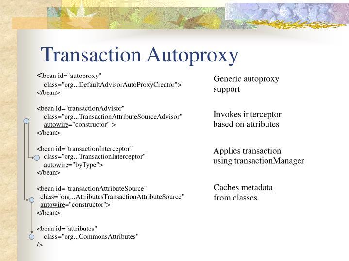 Transaction Autoproxy