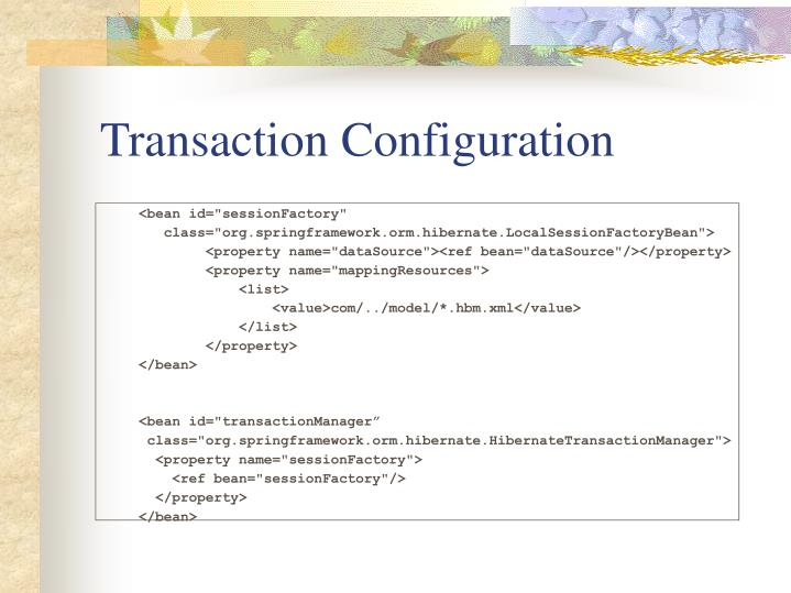 Transaction Configuration