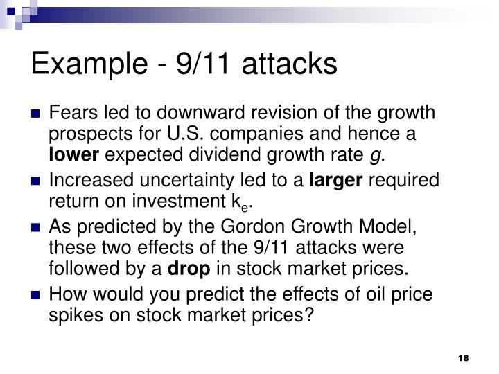 Example - 9/11 attacks