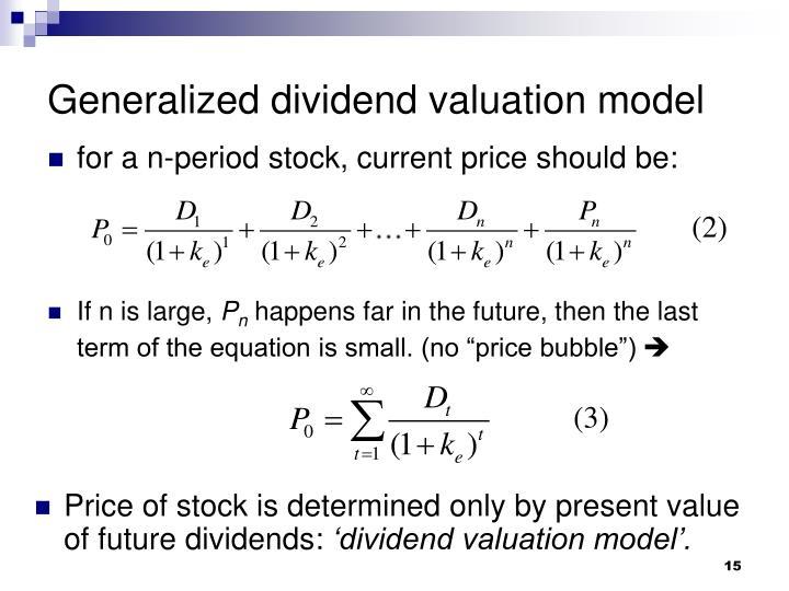 Generalized dividend valuation model
