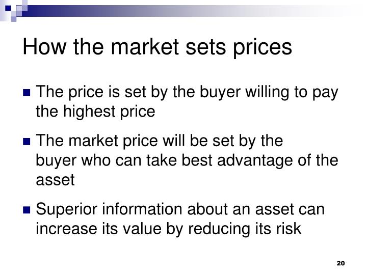 How the market sets prices