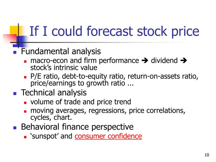 If I could forecast stock price