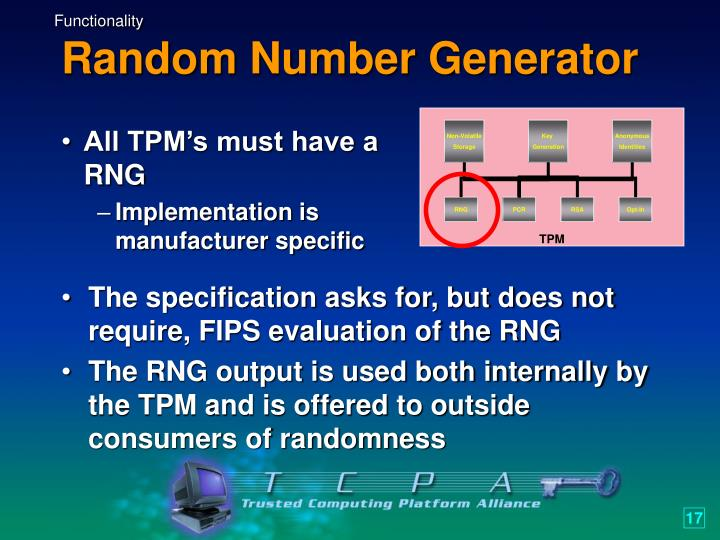 All TPM's must have a RNG