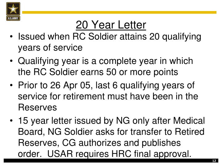 20 Year Letter