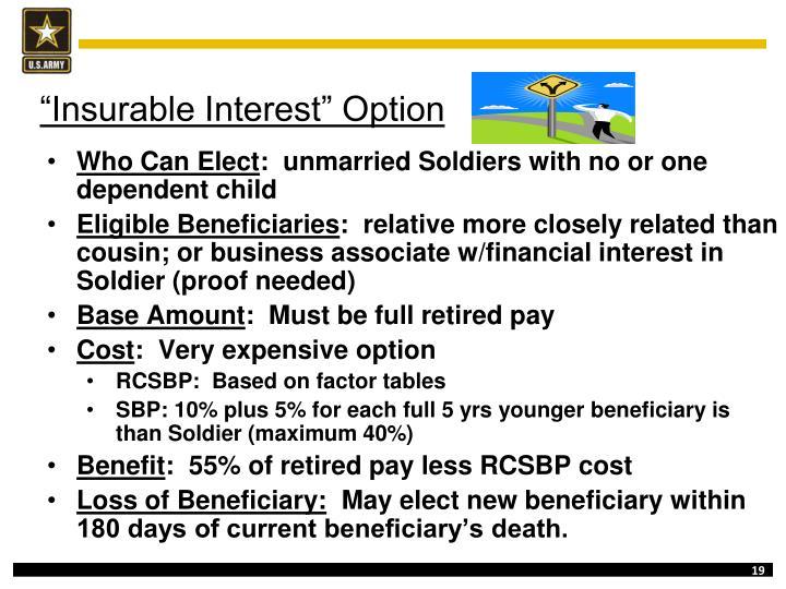 """Insurable Interest"" Option"