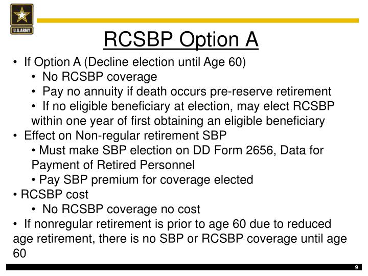 RCSBP Option A