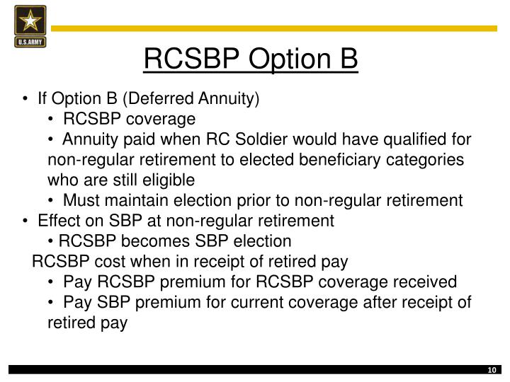 RCSBP Option B