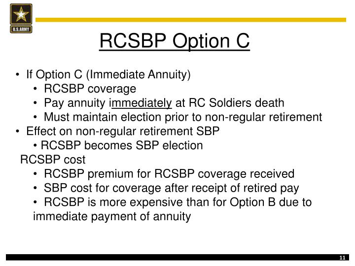 RCSBP Option C