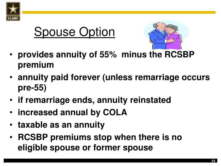 Spouse Option