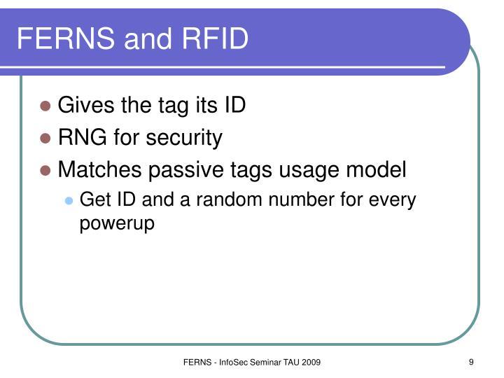 FERNS and RFID