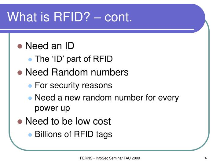 What is RFID? – cont.