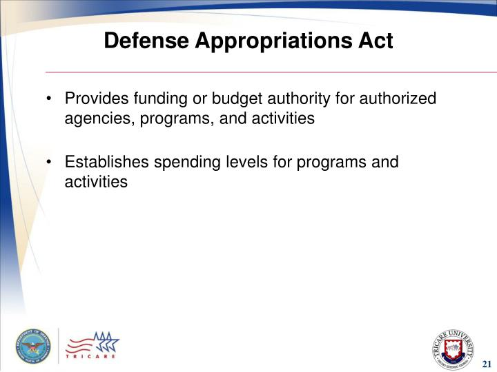 Defense Appropriations Act