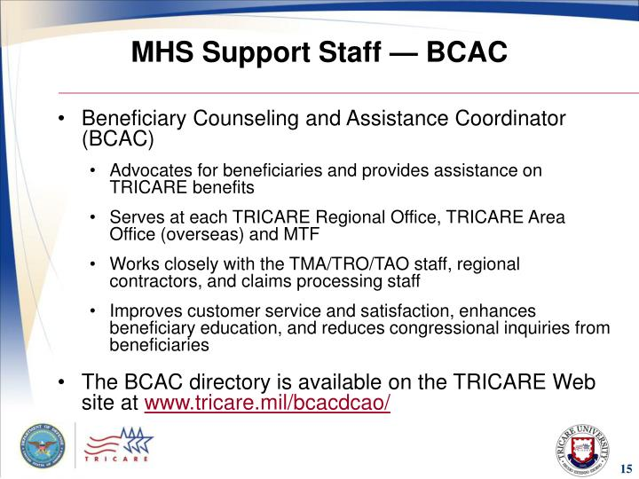 MHS Support Staff — BCAC