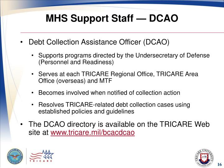 MHS Support Staff — DCAO