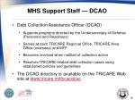 mhs support staff dcao