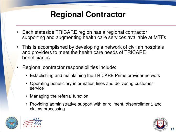 Regional Contractor