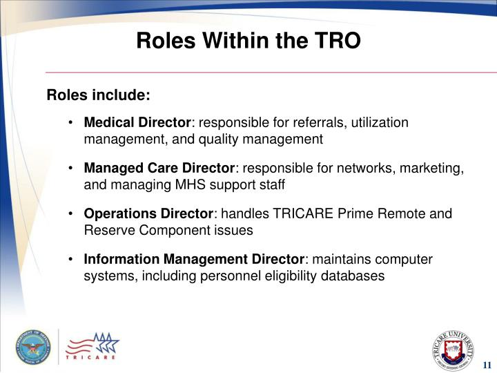 Roles Within the TRO