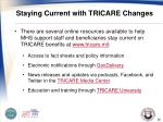 staying current with tricare changes