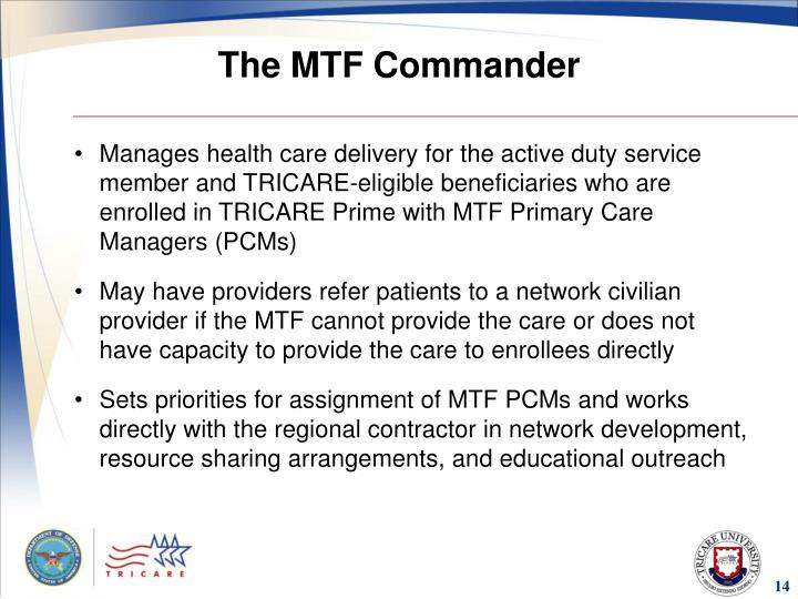 The MTF Commander