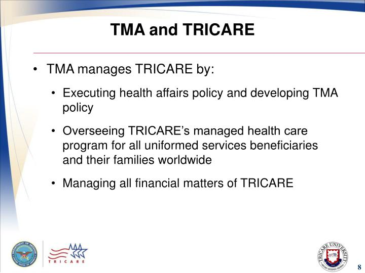 TMA and TRICARE