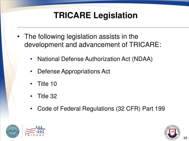 TRICARE Legislation