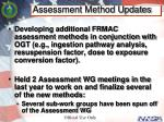 assessment method updates