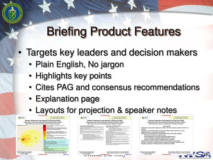 Briefing Product Features