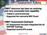 cmht assessment actions