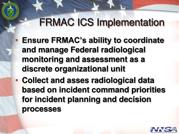 FRMAC ICS Implementation