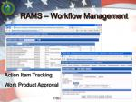 rams workflow management