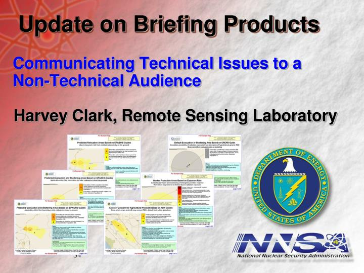 Update on Briefing Products