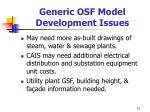 generic osf model development issues