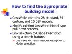 how to find the appropriate building model