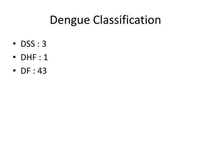 Dengue Classification