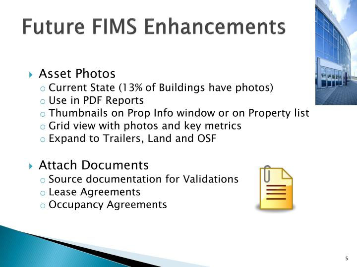 Future FIMS Enhancements